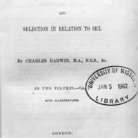 The descent of man : and selection in relation to sex / by Charles Darwin.<br />