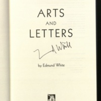Arts and letters / by Edmund White.