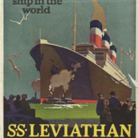The largest ship in the world : S.S. Leviathan : United States Lines : managing operators for United States Shipping Board.