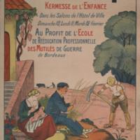 Grand festival des alliés. Kermesse de l'enfance . . . au profit de l'école de réeducation professionnelle des mutilés de guerre de Bordeaux [graphic].
