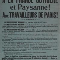 A la France ouvrière et paysanne! : Aux travailleurs de Paris!
