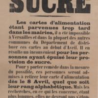 Sucre / le Maire de Versailles, Henri Simon.