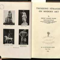 Thinking straight on modern art / by Henry Rankin Poore.