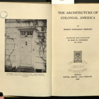 The architecture of colonial America