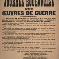 Journée Rouennaise des œuvres de guerre / les Sociétés Rouennaises de Guerre