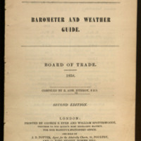 Barometer and weather guide : Board of Trade / compiled by R. Adm. Fitzroy.
