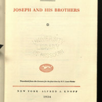 Joseph and his brothers / Thomas Mann ; translated from the German for the first time by H.T. Lowe-Porter
