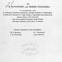Race crossing in Jamaica / by C.B. Davenport and Morris Steggerda, in collaboration with F.G. Benedict ... Lawrence H. Snyder ... [and others.<br />