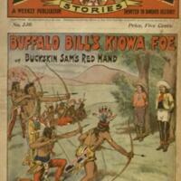 """Buffalo Bill's Kiowa foe, or, Buckskin Sam's red hand / by the author of """"Buffalo Bill""""."""