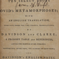 P. Ovidii Nasonis Metamorphoseon libri x, or, Ten select books of Ovid's Metamorphoses