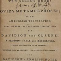 P. Ovidii Nasonis Metamorphoseon libri x, or, Ten select books of Ovid's Metamorphoses