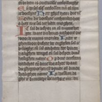 Religious Dutch manuscript, circa 1450 : [1 leaf]