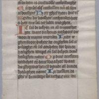 Religious Dutch manuscript, circa 1450 : [1 leaf]