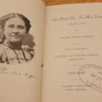 Oo-mah-ha Ta-wa-tha (Omaha city) / by Fannie Reed Giffen. With illustrations by Susette La Flesche Tibbles (Bright Eyes) 1854-1898.
