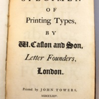 A specimen of printing types / by W. Caslon and Son, letterfounder, London.