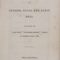 "Poems / by Currer, Ellis, and Acton Bell, authors of ""Jane Eyre,"" ""Wuthering Heights,"" ""Tenant of Wildfell Hall,"" etc."