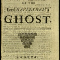 The speech of the Lord Haversham's ghost.