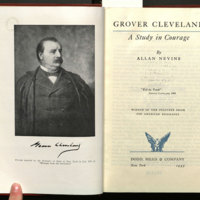 Grover Cleveland : a study in courage / by Allan Nevins.