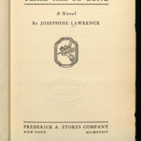 Years are so long / a novel by Josephine Lawrence.<br />