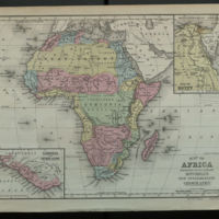 Map of Africa Engraved to Illustrate Mitchell's New Intermediate Geography