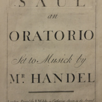 Saul: an oratorio