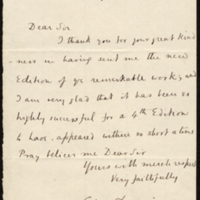 Letter to Charles Lyell [?]