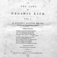 Zoonomia : or, The laws of organic life / by Erasmus Darwin.