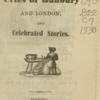 The cries of Banbury and London : and celebrated stories.