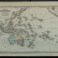 Map of Oceanica Engraved to Illustrate Mitchell's New Intermediate Geography