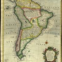 A map of South America with all the European settlements & whatever else is remarkable, from the latest & best observations.
