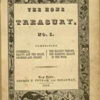 The Home treasury. No. 1 : comprising Cinderella, Beauty and the beast, Grumble and cheery, The eagle's verdict, The sleeping beauty in the wood.