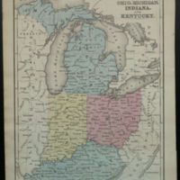 Map of Ohio, Michigan, Indiana, and Kentucky.
