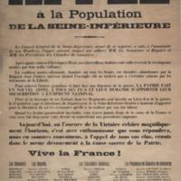 Appel à la population de la Seine-Inférieure.