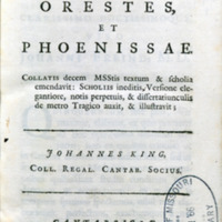 Selections. Latin & Greek. 1726
