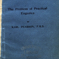 The problem of practical eugenics / by Karl Pearson.<br />