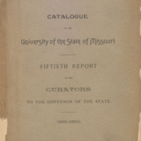 Catalogue of the University of the State of Missouri