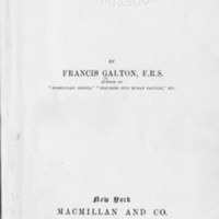 Natural inheritance / by Francis Galton.<br />