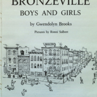 Bronzeville boys and girls / pictures by Ronni Solbert.
