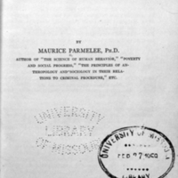 Criminology / by Maurice Parmelee.<br />