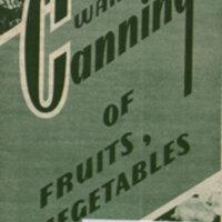 Wartime canning of fruits, vegetables.