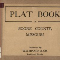 Plat book of Boone County, Missouri.