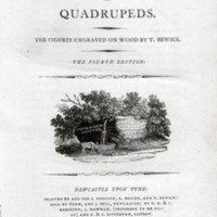 A general history of quadrupeds. : The figures engraved on wood by T. Bewick.<br />
