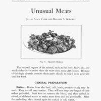 Unusual meats / Jessie Alice Cline and Rosalie S. Godfrey.<br />