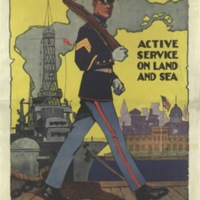 U.S. Marines, active service on land and sea / Sidney H. Riesenberg.