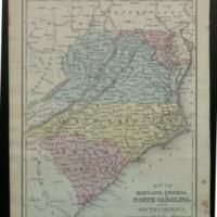 Map of Maryland, Virginia, North Carolina, and South Carolina.<br /> <br />