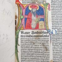 Bible. Latin. Vulgate. 1480.