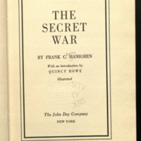 The secret war / by Frank C. Hanighen; with an introduction by Quincy Howe