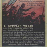 Free war exhibit [graphic] : commemorating the first anniversary of the declaration of war by the United States.
