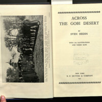 Across the Gobi Desert / by Sven Hedin ; translated from the German by H.J. Cant.