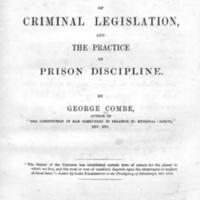 Remarks on the principles of criminal legislation, and the practice of prison discipline
